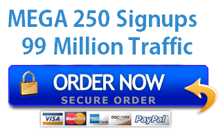 250 QUALITY SIGN UPS + 99 MILLION VISITORS - $25.75