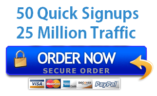 BUY NOW 50 SIGN UPS + 25 MILLION VISITORS-$14.99